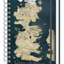 Official Game of Thrones Westeros Maps Spiral-Bound Ruled A5 Notebook