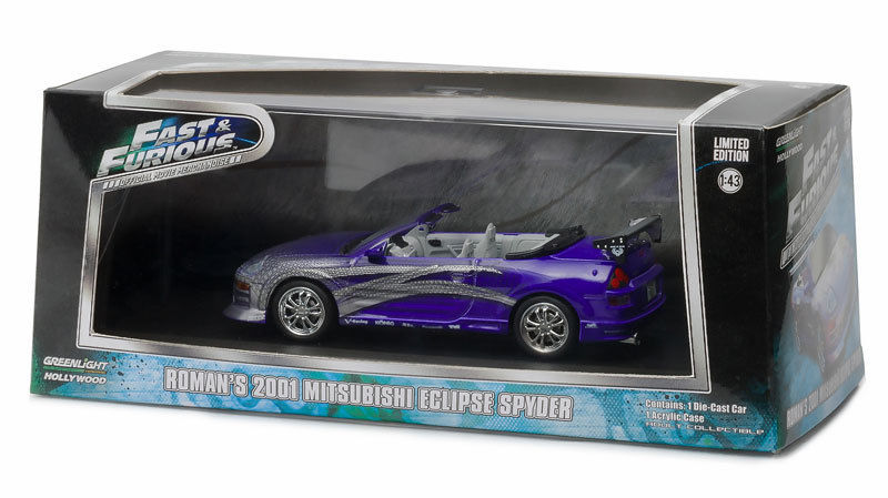 Gkei Anime 2001 Mitsubishi Eclipse Spyder 2 Fast Furious Diecast