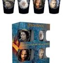 Lord of the Rings Premium Shotglass 4-Pack Characters